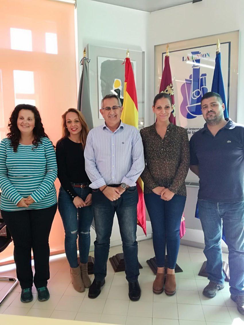 Alcalde, Concejala de Educación y FAMPA Cartagena y Comarca